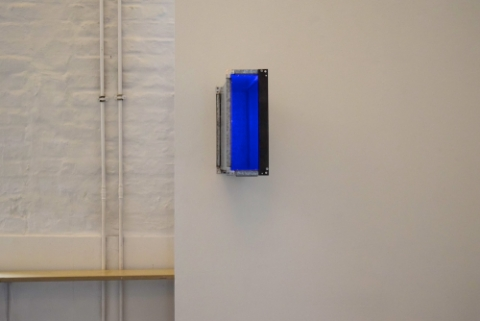 Gennel: galvanised steel, perspex and cold cathode, 2015