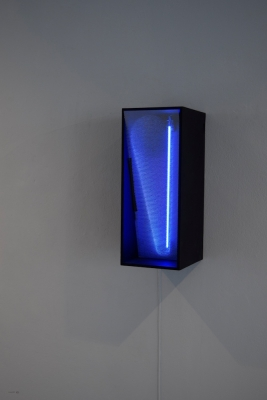 Wand: cold cathode and mdf Keith Bowler 2016