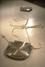 Shamrock: stainless steel and nylon rope 1991