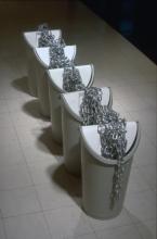 Stockpile:plastic, galvanised steel, chain, 1991